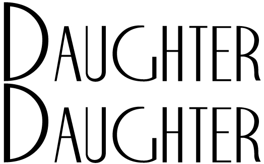 Daughter-Daughter-word-logo
